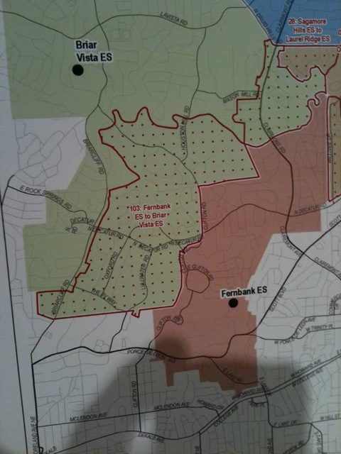 Fernbank Redistricting Map